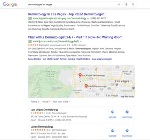 Dermatologist Search on Google Image